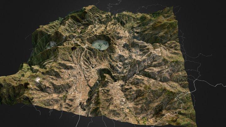 Quilotoa, Ecuador 3D Model