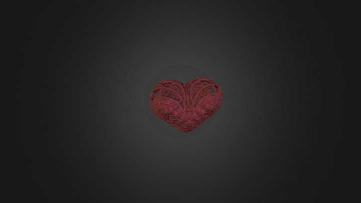 The Heart Of The Valentine 3D Model