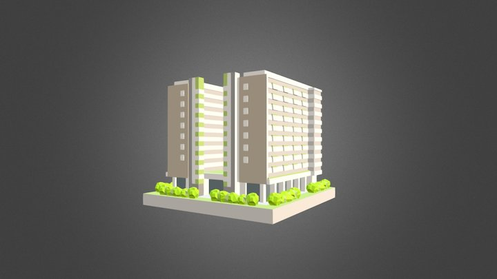 Yishun Community Hospital Miniature 3D Model