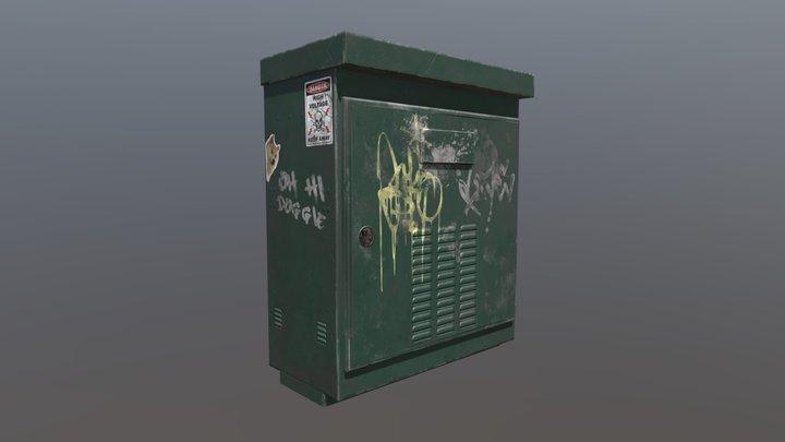 Electrical Transformer Box 3D Model