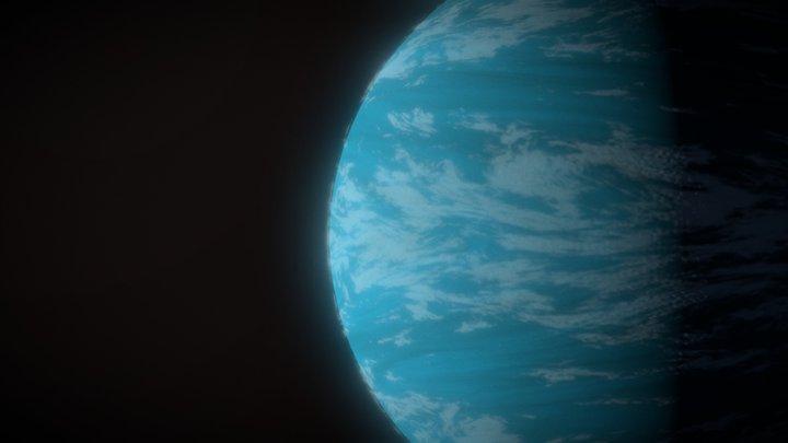 Planet Trappist-1b 3D Model