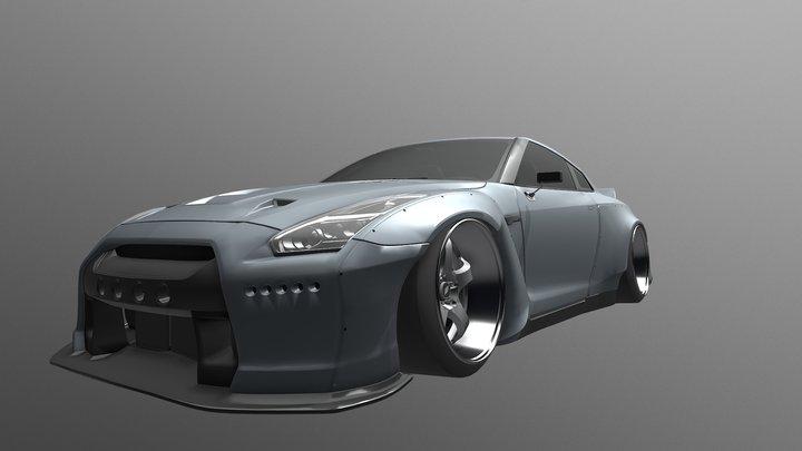 Custom 2017 Nissan GTR 3D Model