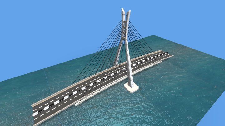 Lekki- Ikoyi Link Bridge 3D Model