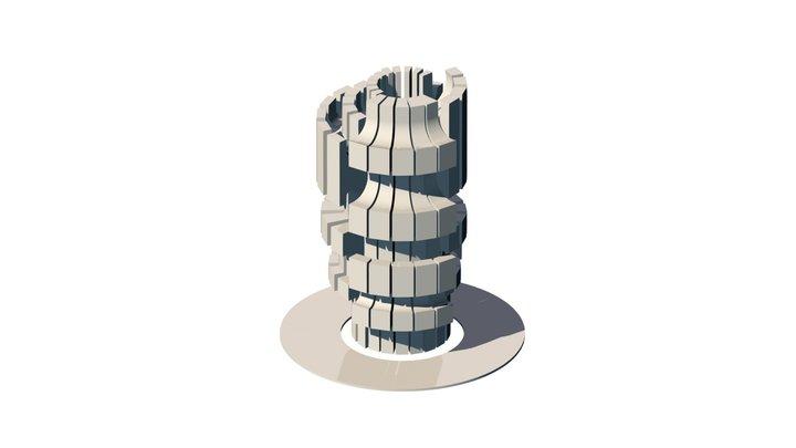 Kozara Monument 3D Model