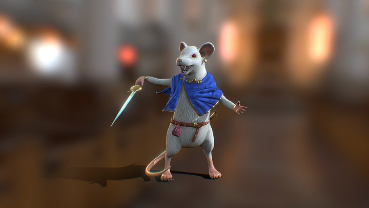 Mouse King 3D Model