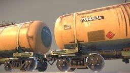 Railway Oil Tank vr.1 3D Model