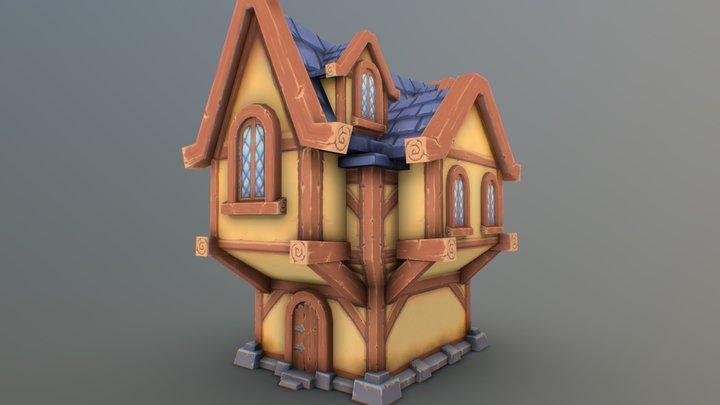 Hand-Painted Home (based on concept) 3D Model