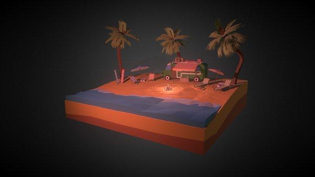 Sunset surfers [WLP series #9] 3D Model