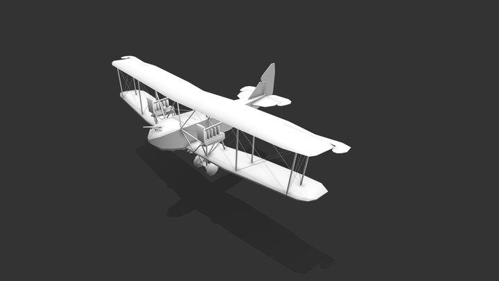A.E.G. G.IV - First World War Airplane 3D Model