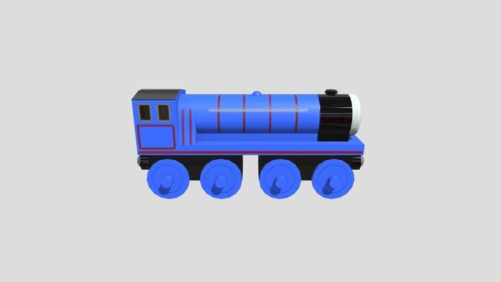 "Wooden Train - ""Gordon"" 3D Model"