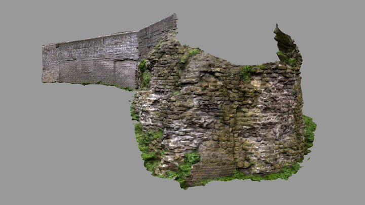 Nijmegen - Historisch muurwerk Valkhof 3D Model