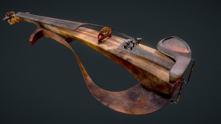 Yamaha YEV140 Electric violin after a fire 3D Model