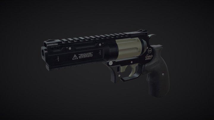 Revolver .357 3D Model