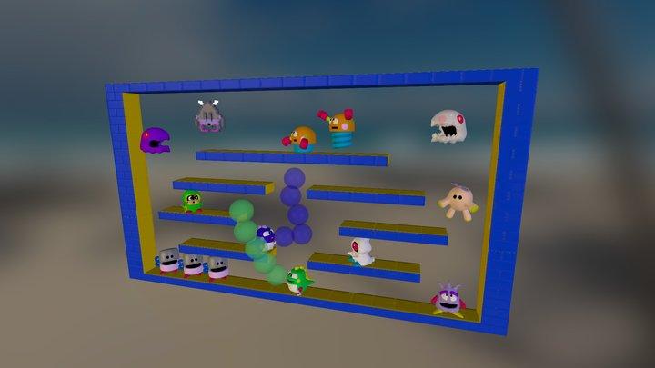 Bubble Bobble Level (Full Work) 3D Model