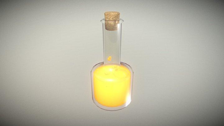 Lowpoly Glass Blottle with Cork #3 3D Model