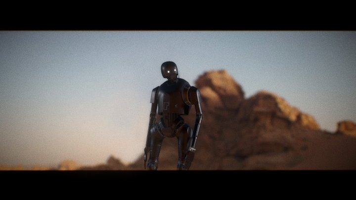 K-2SO from Rogue one (animated) 3D Model