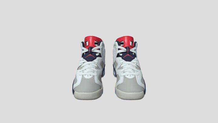 Air Jordan 6 Retro 3D Model
