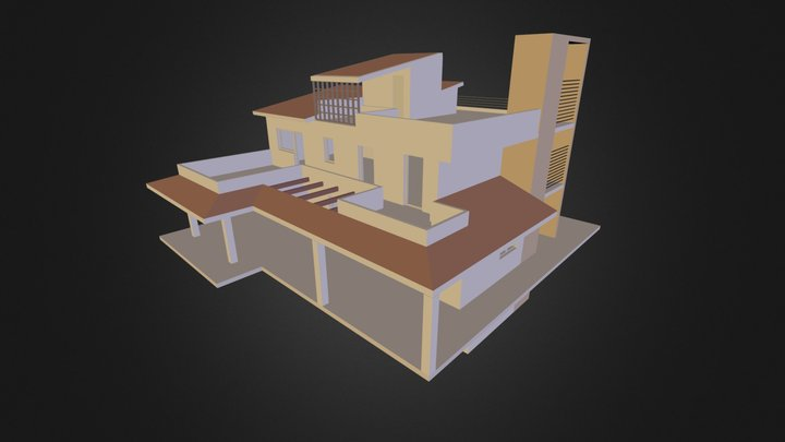 Unifamiliare 3D 3D Model