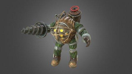 """Scanned """"Big Daddy"""" Figure (Bioshock) 3D Model"""