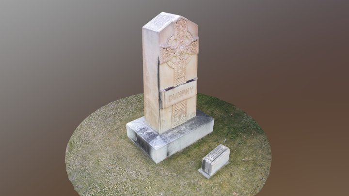 Patrick Dunphy Tombstone at Roselawn Cemetary 3D Model