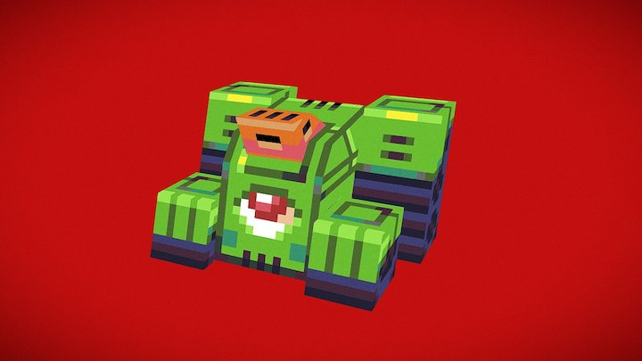 Chibi Mutie Tank 3D Model