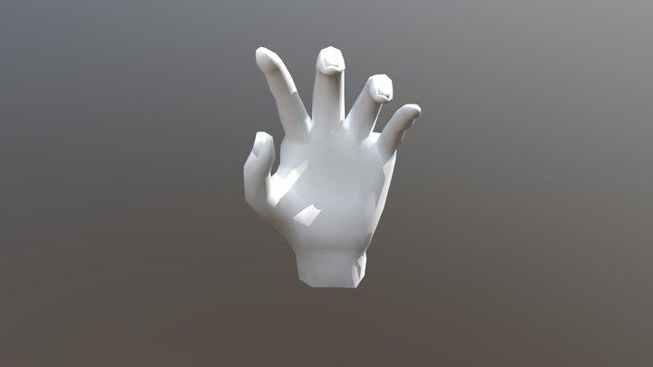 Hand Model Low Poly 3D Model