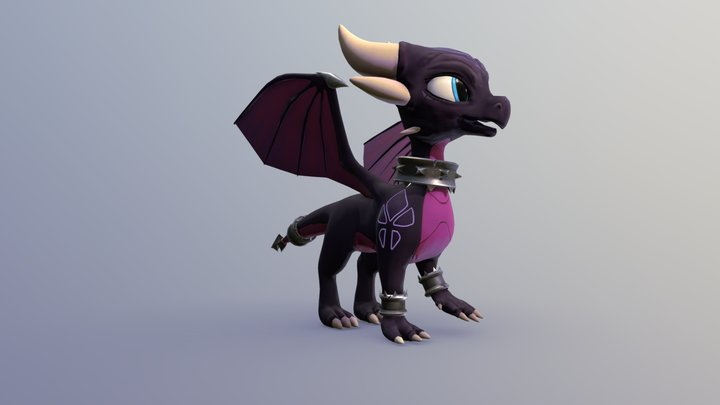 Cynder Reignited 3D Model