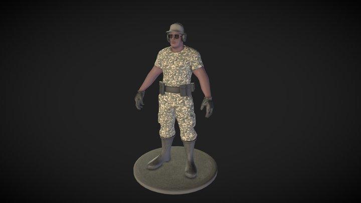 Army Veteran 3D Model