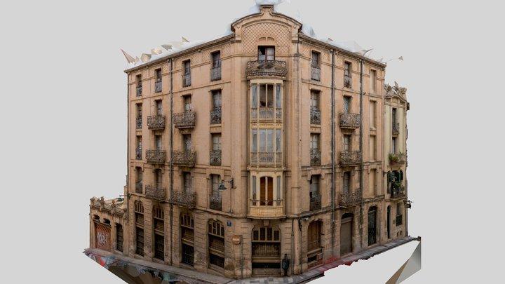 Casa Briet Art Nouveau Building 3D Model