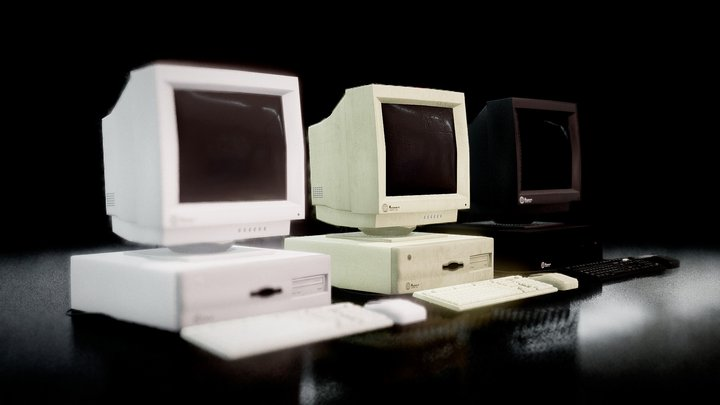 Low poly Retro computers - Store pack 3D Model