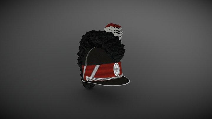 Denmark Light Dragoons Hat 3D Model