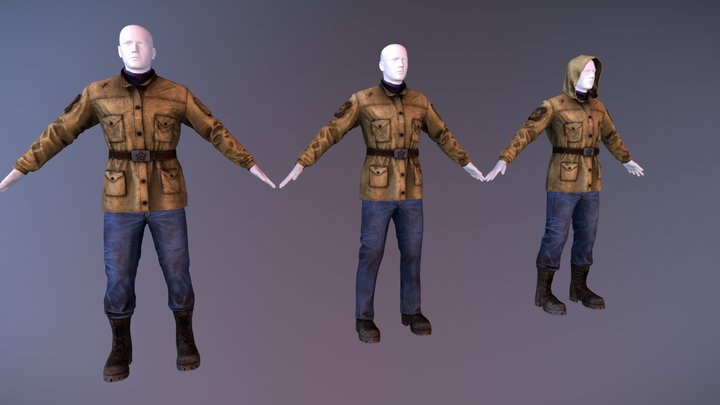 ArmStalker - Leather Jacket(Newmember clothes) 3D Model