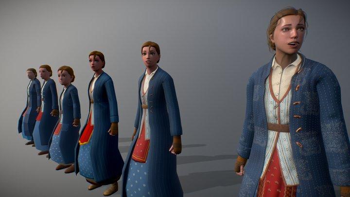 Character Stylization Study 3D Model