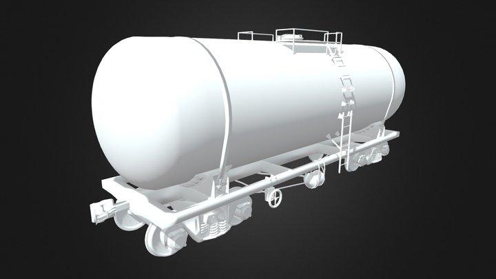 Vagon-Cisterna / tank wagon 3D Model