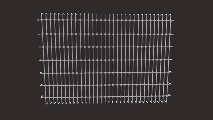 Iron Bar Window-6 3D Model