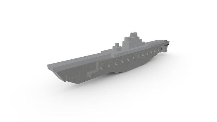LEGO U-505 Submarine MOC 3D Model