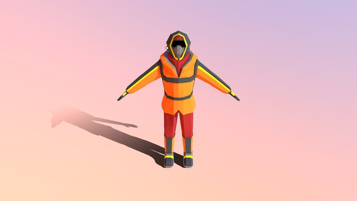 Altitude Player Character (Colored) 3D Model