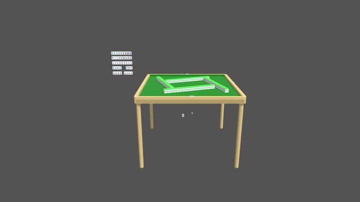 Mahjong 3D Model