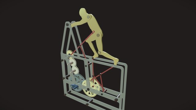 Pushing man 3D Model