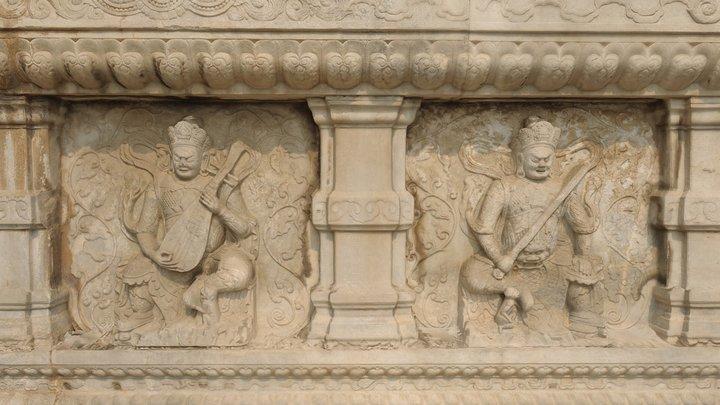 Zhenjue temple bas-relief 3D Model