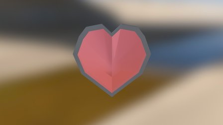 Low Poly Heart Container 3D Model