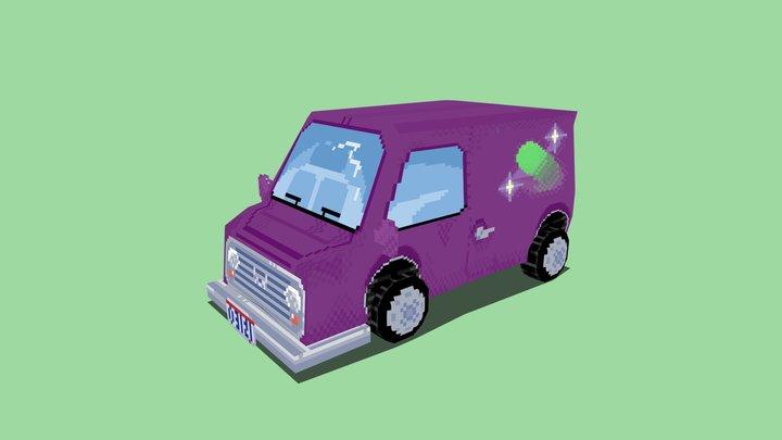 LowPoly Galaxy Van 3D Model