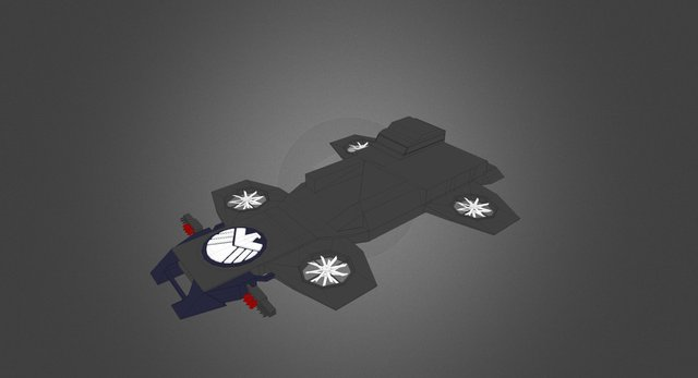 Helicarrier 3D Model
