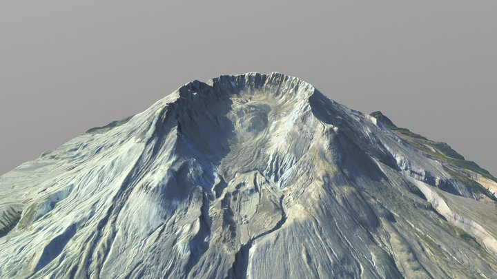 Mount St. Helens 1:50,000 Scale 3D Model