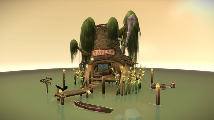 The Swamp Tavern 3D Model