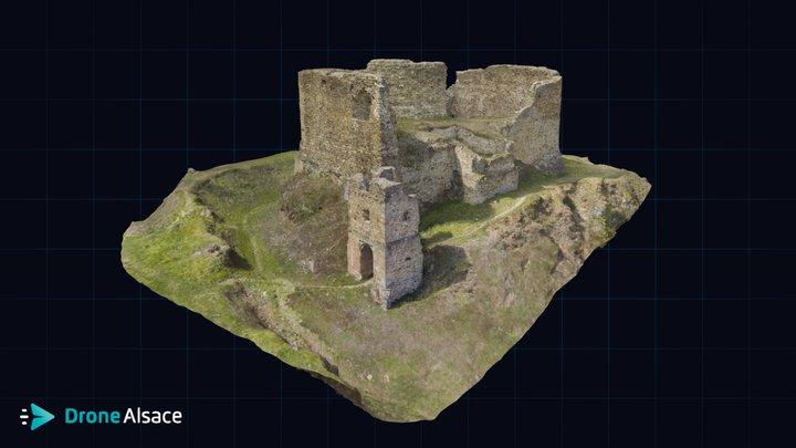 Château du Hugstein - Alsace 3D Model