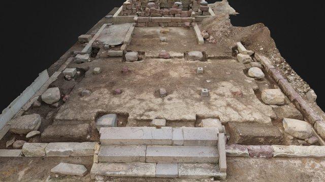 新北神社拝殿礎石基礎部分 3D Model