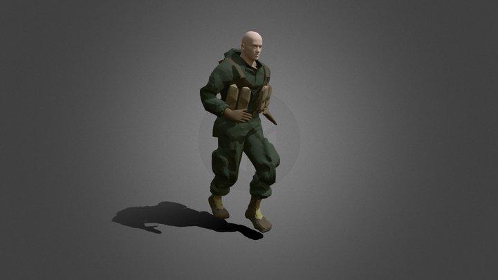 Soldier, UE4 rig 3D Model