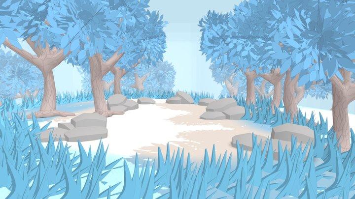 VR Alien Forest (with download) 3D Model