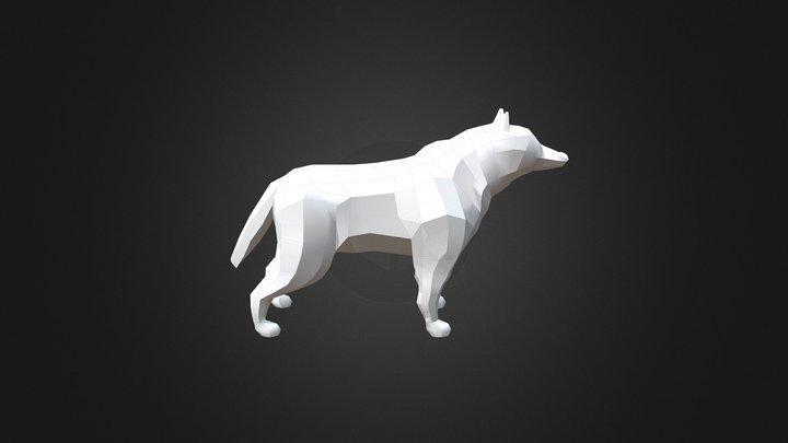 Low Poly 3D Wolf Model 3D Model